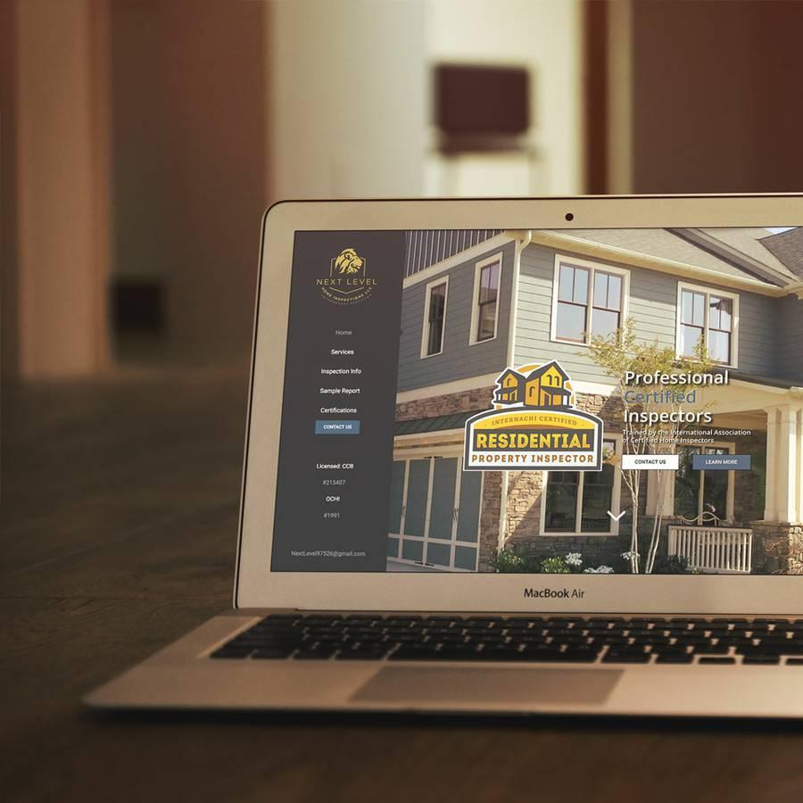 Next Level Home Inspections Website Design