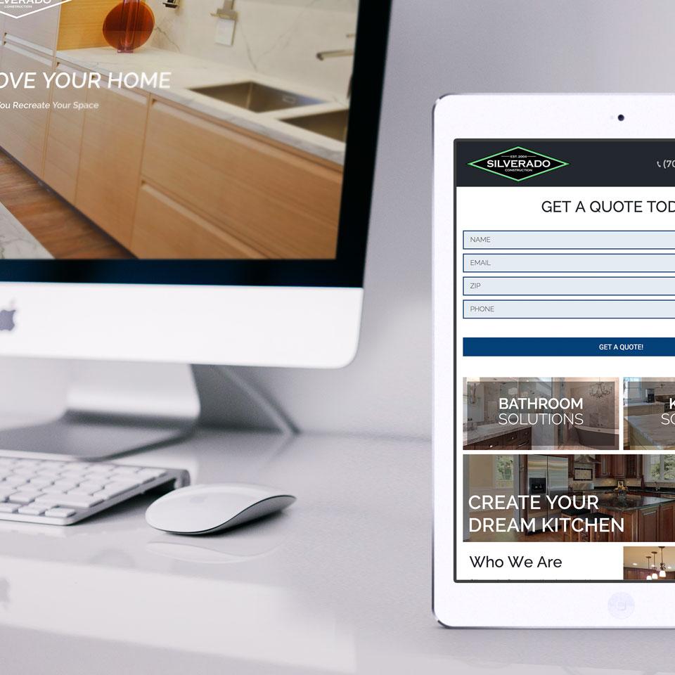 Silverado Construction Website Design
