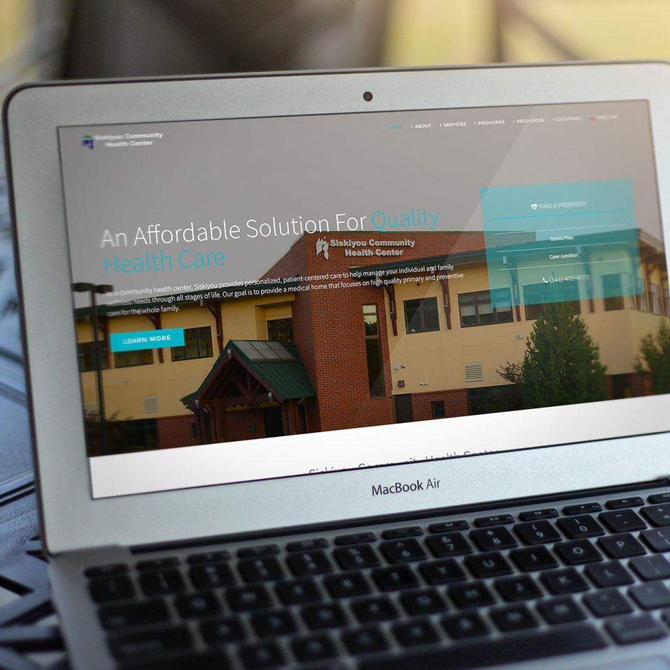 Siskiyou Community Health Center Website Design