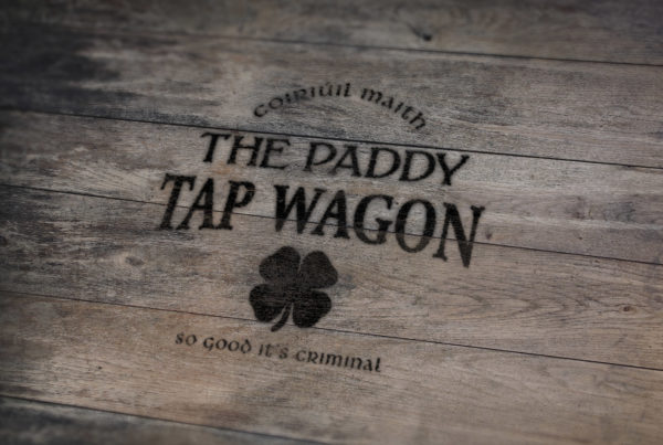 The Paddy Tap Wagon Mobile Vintage Bar Logo Design