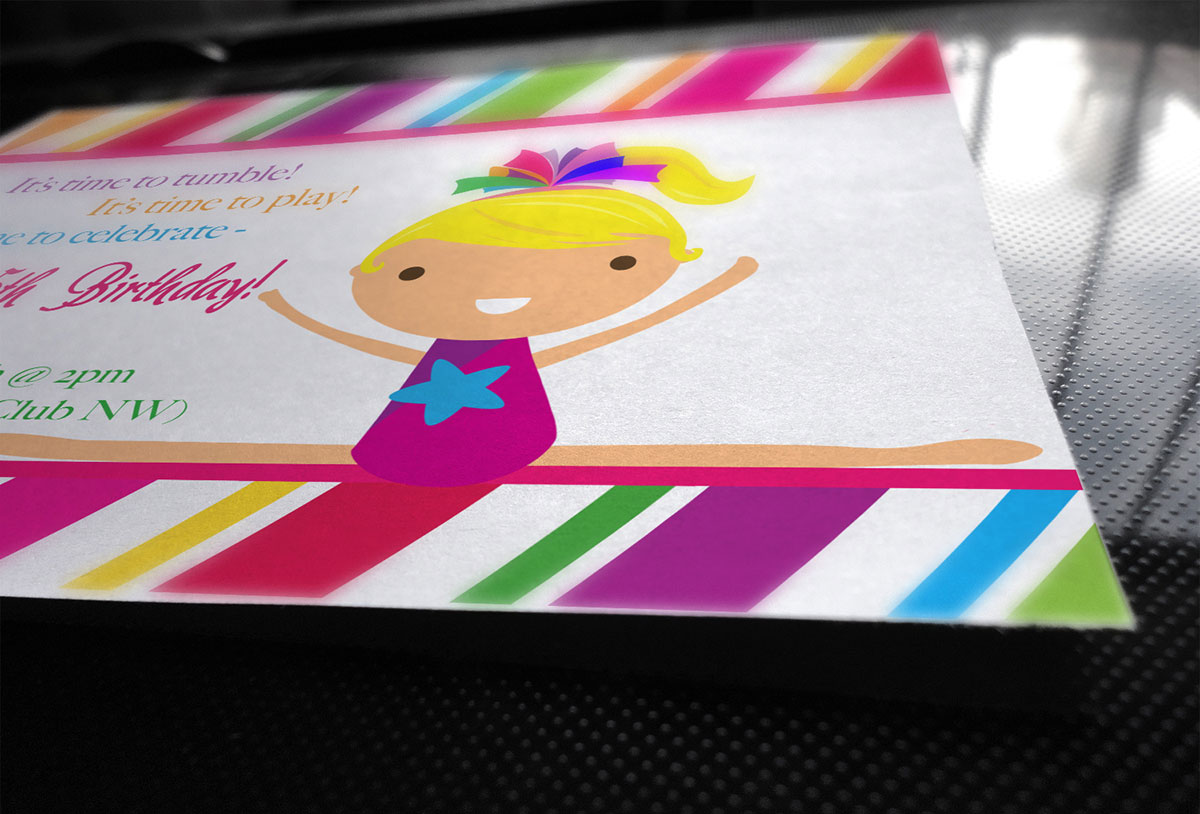 girl s birthday party invite rogue creative studio