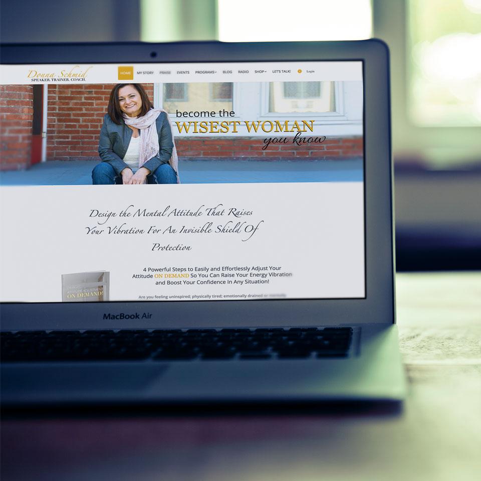 Donna Schmid Website Design
