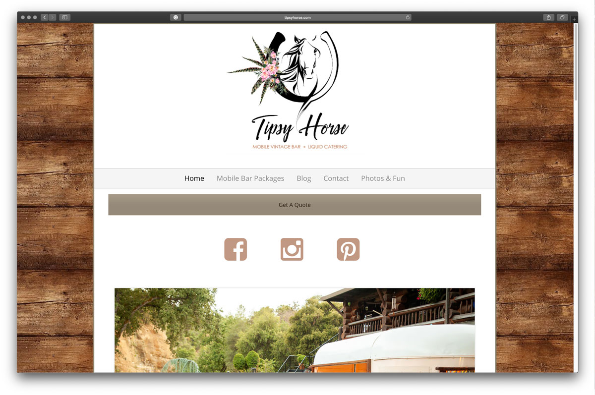 Tipsyhorse.com website redesign - before photo.