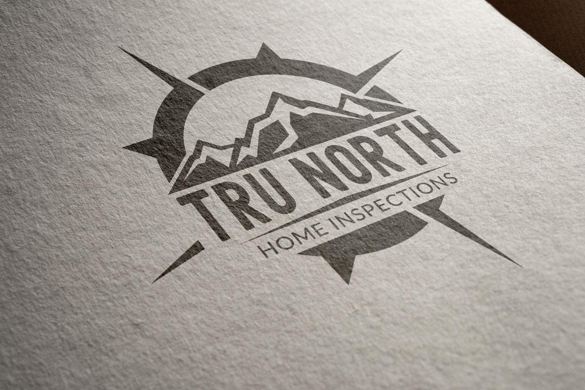 Tru North Home Inspections Logo Design