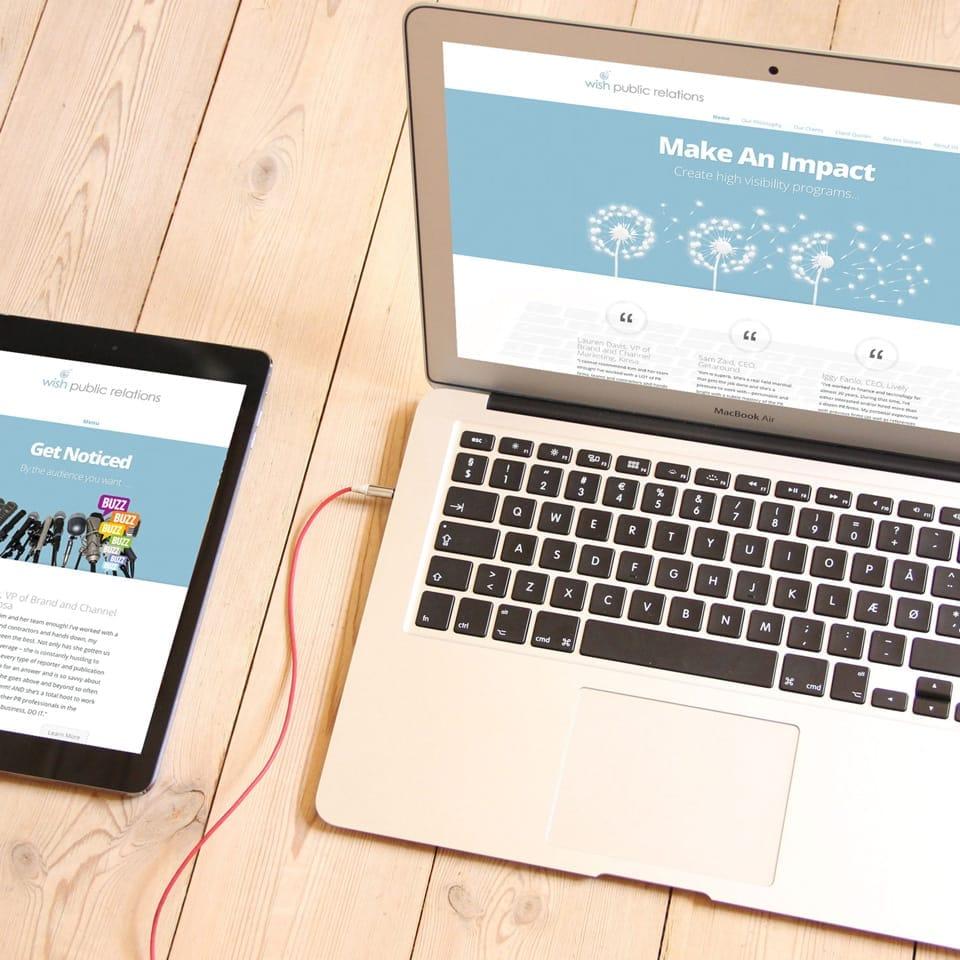 Wish Public Relations Website Design