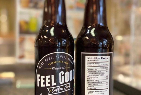 Feel Good Coffee Co. Logo & Label Design
