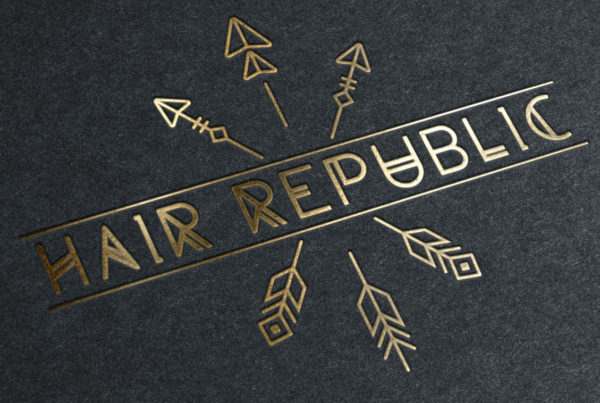 HAIR REPUBLIC Grants Pass Logo Design