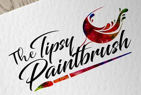 The Tipsy Paintbrush Logo Design