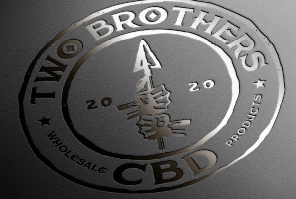 Two Brothers CBD Logo Design